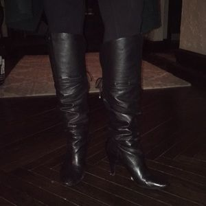 Guess High Knee Black Stiletto Boots